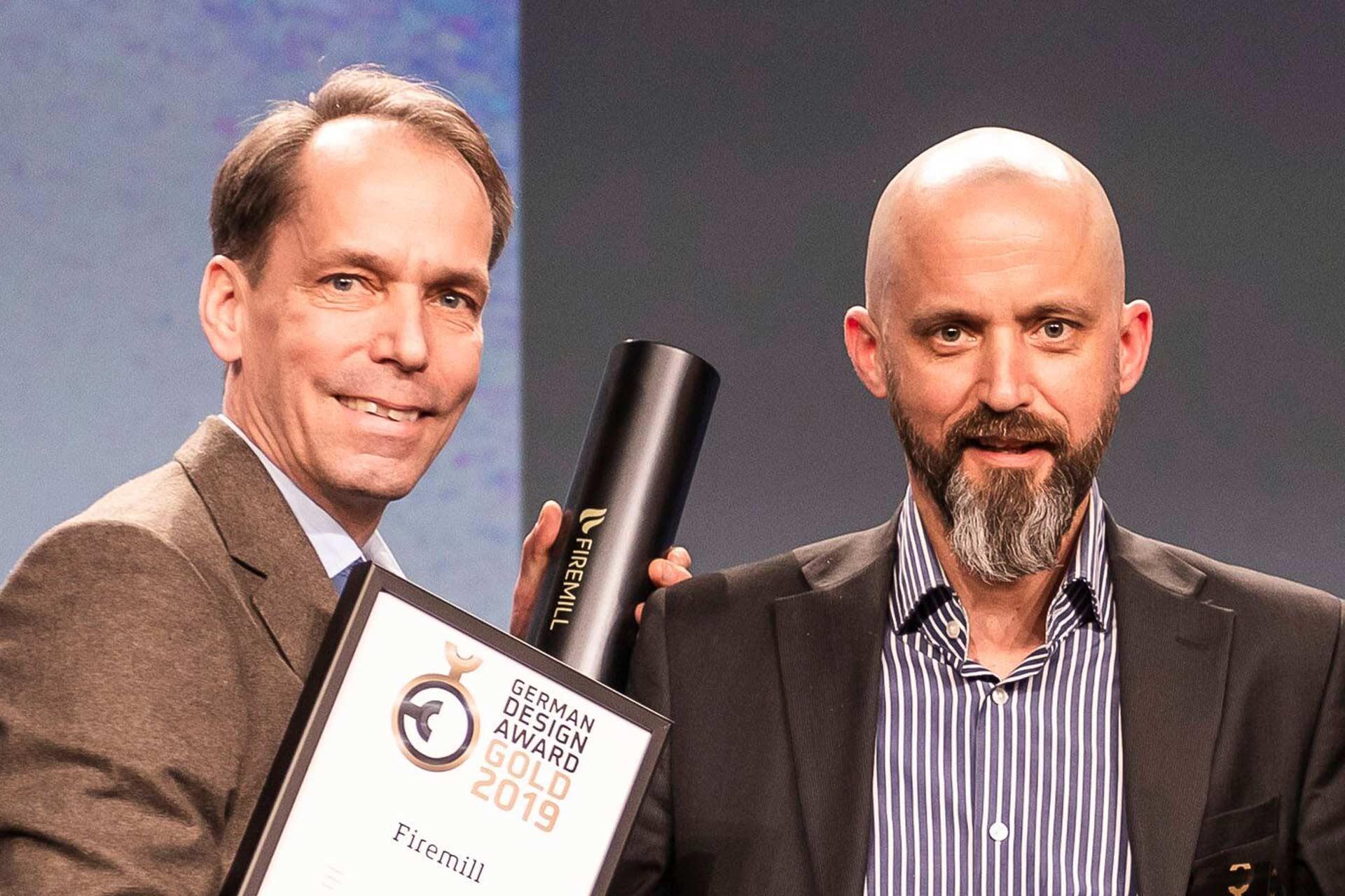 Andreas och Martin tar emot German Design Award Gold 2019